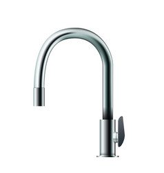 metal mixer tap faucet vector image