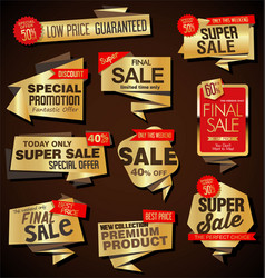 modern sale labels and baners origami style vector image