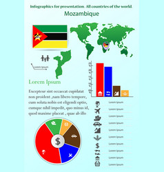 mozambique infographics for presentation all vector image