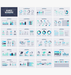 multipurpose presentation template infographic vector image
