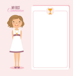My first communion girl vector