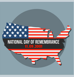 national american day of remembrance background vector image