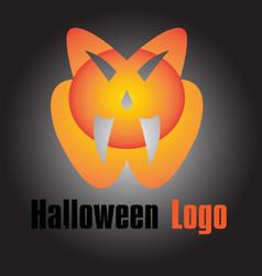 New halloween logo template design vector
