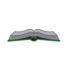 open book with pages cover education vector image