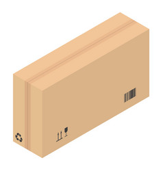 Packed carton box icon isometric style vector