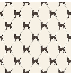 pattern with dogs seamless texture vector image