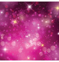 Pink christmas background vector