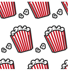 popcorn usa fast food seamless pattern american vector image