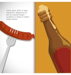 Premium quality cold beer vector