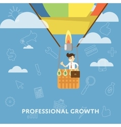 Professional growth business concept flat vector image