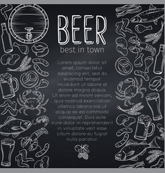 Pub food and beer poster vector