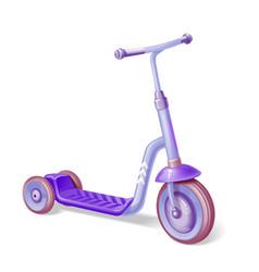 purple roller scooter for children balance bike vector image