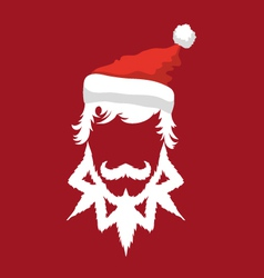 Santa Claus hipster fashion style vector image