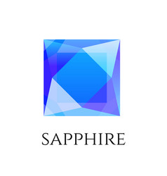 Sapphire shining logo isolated on white vector