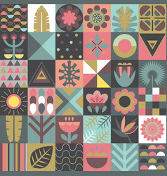 seamless pattern with square patchwork vector image