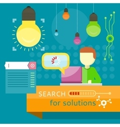 Search for Solutions Banner Business Strategy vector
