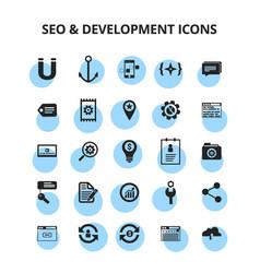 seo development icons vector image