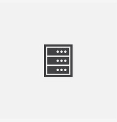 server base icon simple sign server vector image