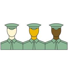 Servicemen vector