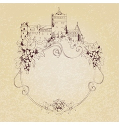 Sketch castle background vector image