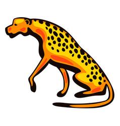 stylized cheetah vector image
