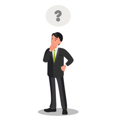 thoughtful thinking a young businessman vector image