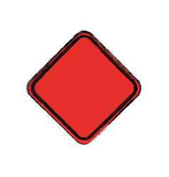 Traffic sign danger warning blank vector