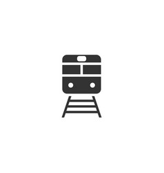 train icon flat vector image