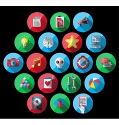 Universal Flat Icons for Web vector image