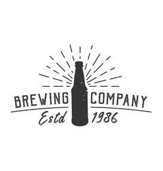 Vintage brewing company logotype concept vector