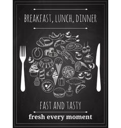Vintage Food Poster vector image
