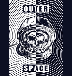 vintage monochrome space template vector image