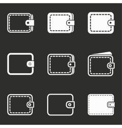 Wallet icon set vector image vector image