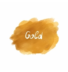 Gold stain acrylic atercolor isolated on white vector image