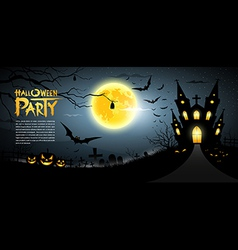 Happy Halloween scary background vector image vector image