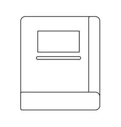 academic book icon vector image