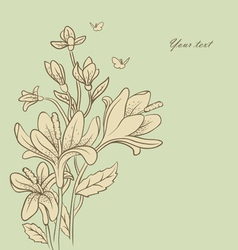 flowers vintage vector image vector image