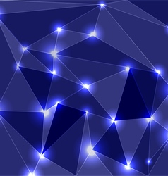 Geometric Glowing Background vector image vector image