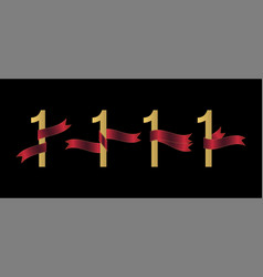 number 1 set vector image