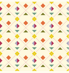 seamless geometric abstract pattern vector image vector image