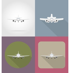 transport flat icons 69 vector image vector image