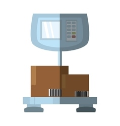 weight scale delivery boxes cargo shadow vector image vector image