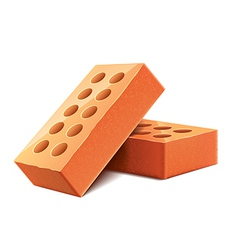 brick isolated vector image vector image