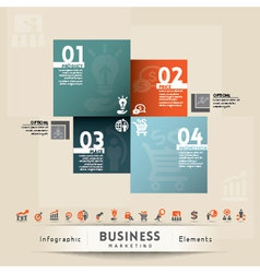 Business Marketing Concept Graphic Element vector image vector image