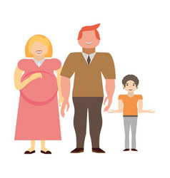 couples family pregnancy vector image vector image