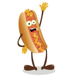 funny hot dog vector image