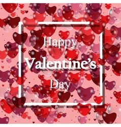 Happy valentines day Pink Background with vector image