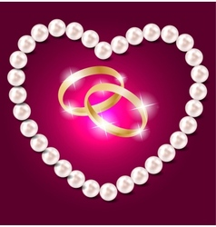 Pearl heart background vector image vector image