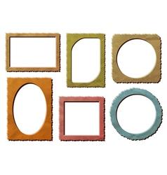 Retro photo frames set vector image vector image
