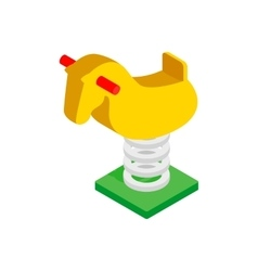 Spring see saw isometric 3d icon vector